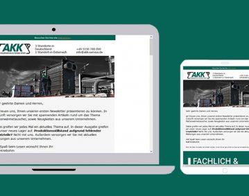 Neuer Newsletter der AKK Industrieservice GmbH